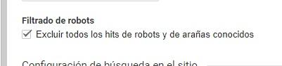 excluir robots analytics