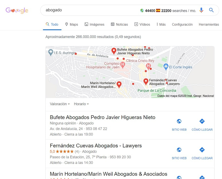 busqueda abogado google