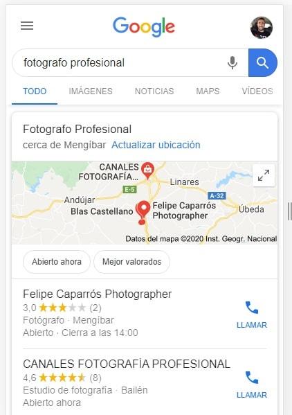 busqueda fotografo google