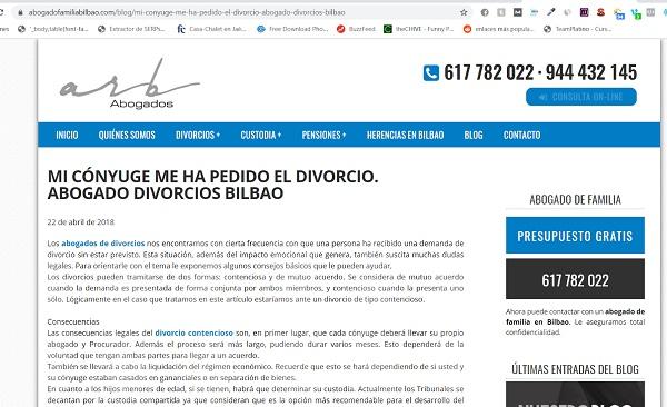 ejemplo web abogado